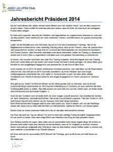 Jahresbericht 2014 - Präsident